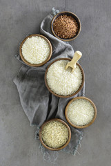 Various kinds of rice