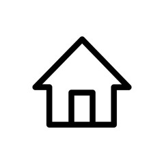 Home Web Vector Icon. Editable Stroke. 256x256 Pixel Perfect