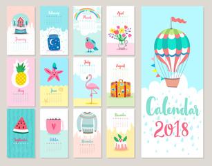 Wall Mural - Calendar 2018.