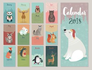Canvas Print - Calendar 2018.