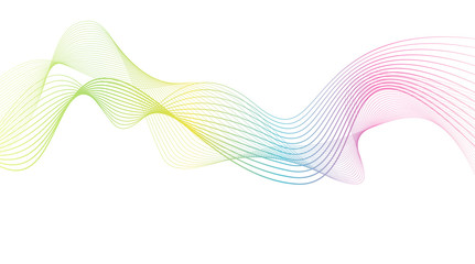 rainbow color abstract wave background template