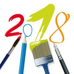 2018 - carte de vœux - année - vœux - originale - créative - création - artistique