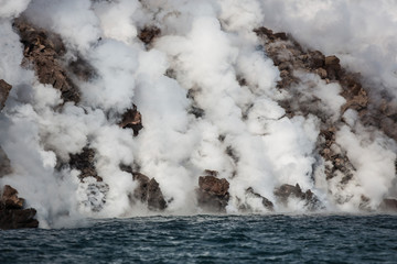 Chirpoy Island, Snow volcano activity, Russia