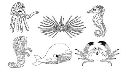Marine  inhabitants set