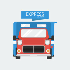 Delivery express truck
