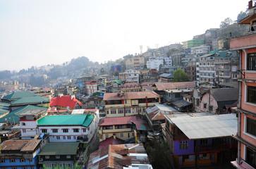 Top view of Darjeeling Town