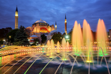 Hagia Sophia basilica, Istanbul, Turkey