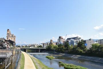 団栗橋から祇園方向を見る