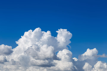 abstract white clouds on clear blue sky background