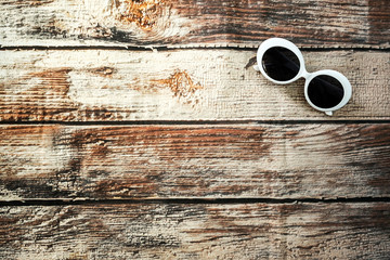 Summer sunglasses accessory fashion on background