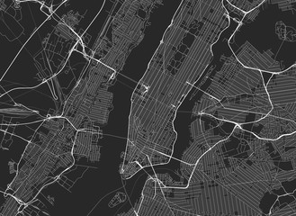 Vector black map of New york Fototapete