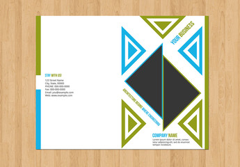 Business Brochure with Blue and Green Accents 1