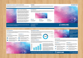 Trifold Business Brochure with a Square Layout 1