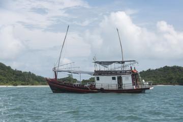 Fishing boat in the sea, Koh Mat Sum Island, Koh Samui, Surat Thani Province, Thailand