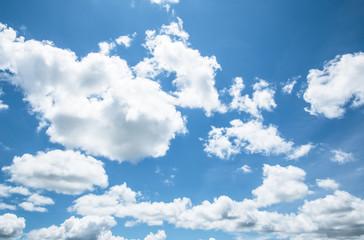 blue sky with cloud.