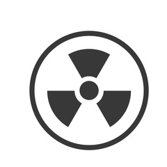 Icon of Nuclear in Circle line - vector iconic design