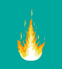 Burning fire or campfire. Vector illustration