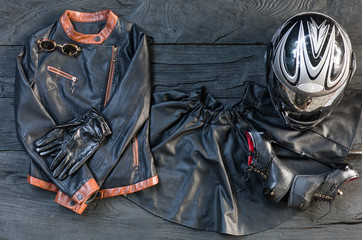 leather clothing biker
