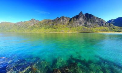 Ersfjord beach on norwegian Senja island