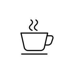 cup with steam line icon
