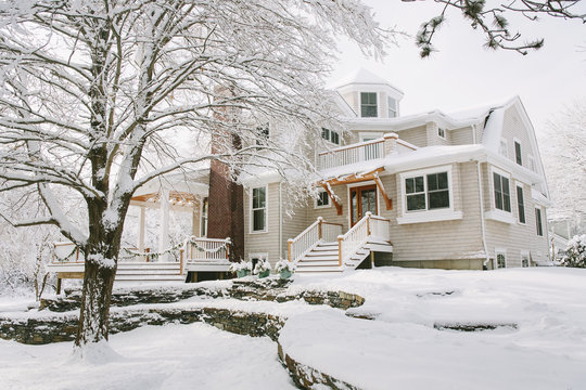 Exterior of house in Winter