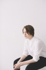portrait of young androgyne