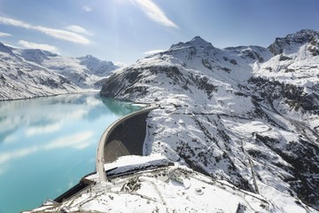 Hochgebirgsstausee, Barrier lake Kaprun, Salzburg, Austria