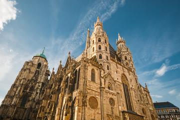Aluminium Prints Vienna St. Stephan Cathedral against blue sky in Vienna, Austria