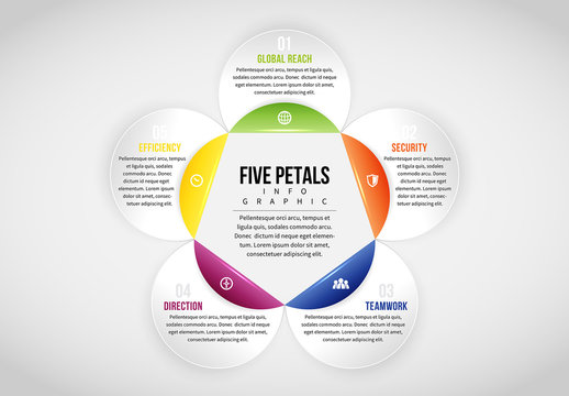 Linked Circle Cluster Infographic 5