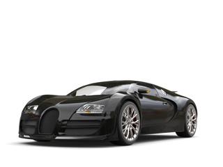 Modern jet black concept super car