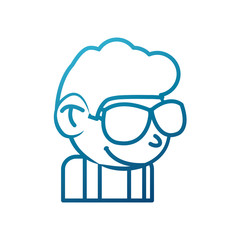 Cool guy cartoon icon vector illustration graphic design