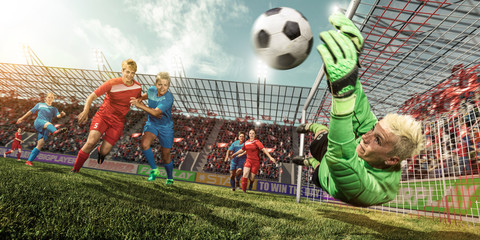 Torschuss im Frauenfußball