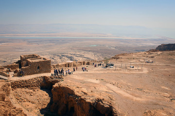 Masada fortress near Dead Sea, Israel
