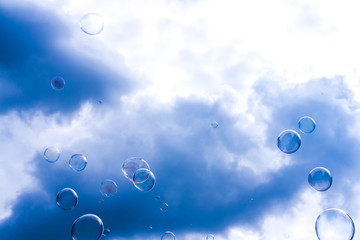 bubbles and clouds