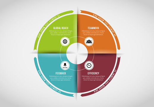 Four Section Circle Infographic 4