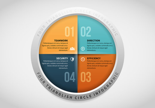 Four Section Circle Infographic 5