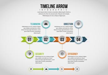 Arrow Timeline Infographic 1
