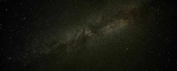Panorama of beautiful night sky Milky Way
