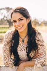 Portrait of a Beautiful Latina Woman