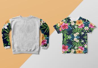 Sweatshirt and T-Shirt Mockups
