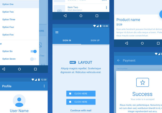 Platforma Wireframe Kit for Android
