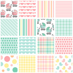 Baby Patterns (16 seamless baby patterns)