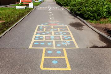 Children's street mobile game