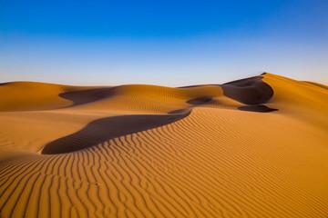 Sand dunes. Desert landscape