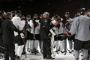 Hockey: World Cup of Hockey-Team North America-Practice