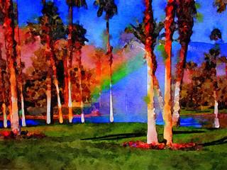 Watercolor Golf course