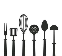 Kitchen utensils icons icon vector illustration graphic design