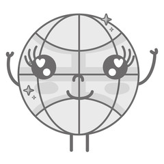 grayscale kawaii cute happy global connect