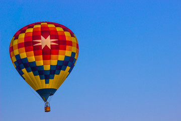 Bright Hot Air Balloon With Eight Pointed Star