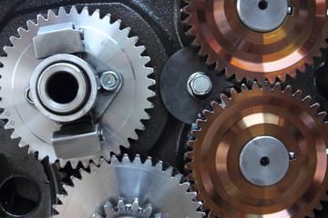 Close-up gear of engine